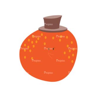 Food Vector Set 2 Vector 1 Orange Clip Art - SVG & PNG vector