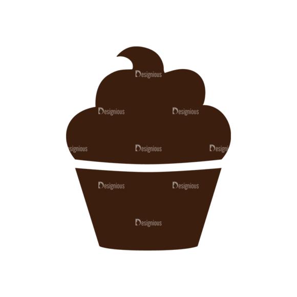 Food Vector Set 2 Vector Cupcake 1