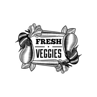 Food Vintage Badges Set 4 Vector Badge 05 Clip Art - SVG & PNG vector