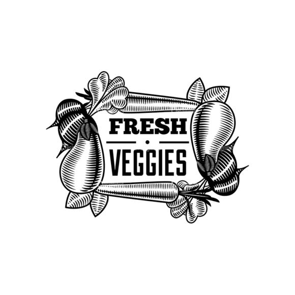Food Vintage Badges Set 4 Vector Badge 05 1