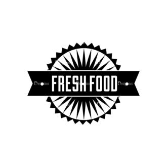 Food Vintage Badges Set 4 Vector Badge 08 Clip Art - SVG & PNG vector