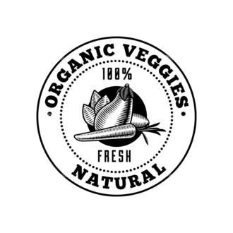 Food Vintage Badges Set 4 Vector Badge 09 Clip Art - SVG & PNG vector