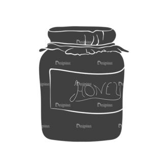 Food Vintage Vector Set 3 Vector Honey Clip Art - SVG & PNG vector