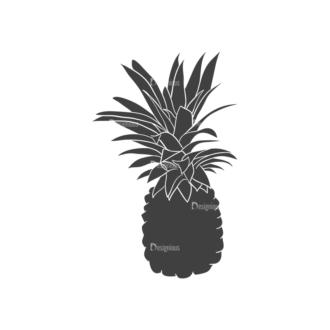 Food Vintage Vector Set 3 Vector Pineapple Clip Art - SVG & PNG vector