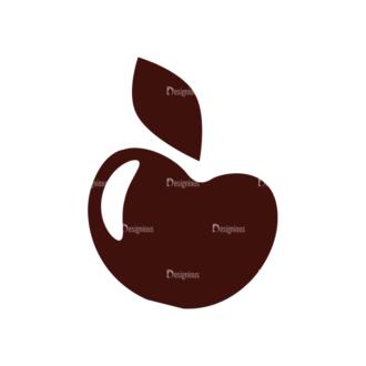 Fruits Vector Elements Set 1 Vector Apple 01 Clip Art - SVG & PNG vector