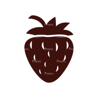 Fruits Vector Elements Set 1 Vector Strawberry Clip Art - SVG & PNG vector