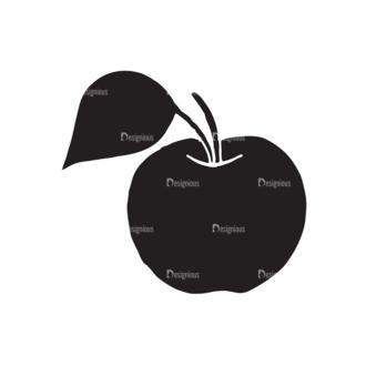 Fruits Vector Elements Set 2 Vector Apple Clip Art - SVG & PNG vector