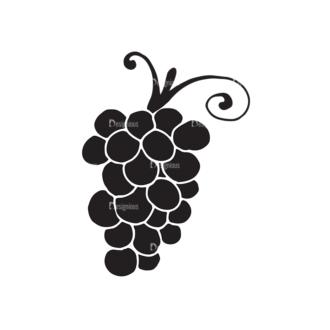 Fruits Vector Elements Set 2 Vector Grapes Clip Art - SVG & PNG vector