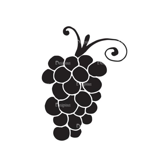 Fruits Vector Elements Set 2 Vector Grapes 1