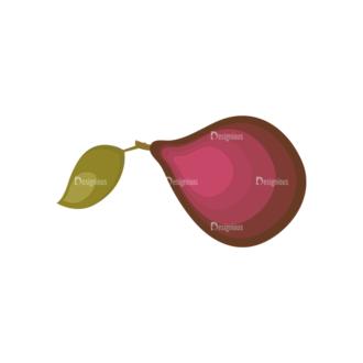 Fruits Vector Icons Set 1 Vector Avocado Clip Art - SVG & PNG vector