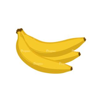 Fruits Vector Icons Set 1 Vector Banana Clip Art - SVG & PNG vector