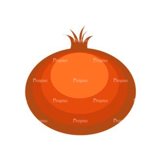 Fruits Vector Icons Set 1 Vector Pomegrante Clip Art - SVG & PNG vector