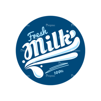 Milk Badges Vector Set 4 Vector Logo 02 Clip Art - SVG & PNG vector