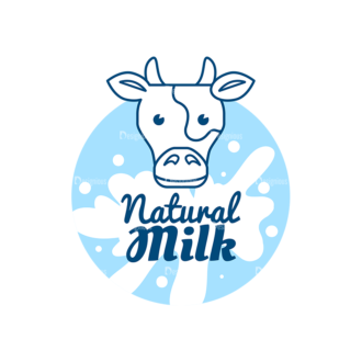 Milk Badges Vector Set 4 Vector Logo 04 Clip Art - SVG & PNG vector