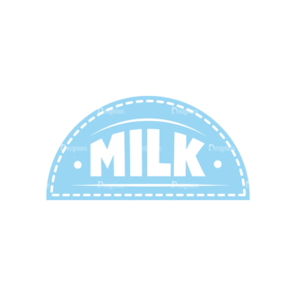 Milk Labels Vector Set 2 Vector Label 03 Clip Art - SVG & PNG vector