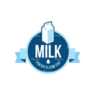 Milk Logo Labels Vector Set 5 Vector Labels 02 Clip Art - SVG & PNG vector