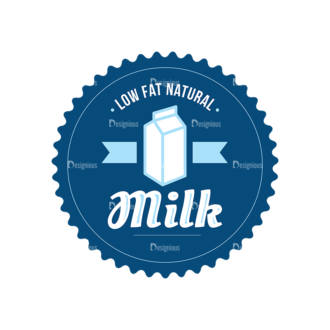 Milk Logo Labels Vector Set 5 Vector Labels 04 Clip Art - SVG & PNG vector