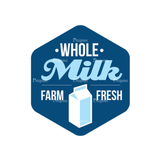 Milk Logo Labels Vector Set 5 Vector Labels 05 Clip Art - SVG & PNG vector