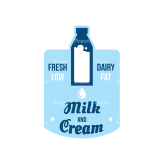 Milk Logo Labels Vector Set 5 Vector Labels 06 Clip Art - SVG & PNG vector
