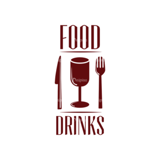 Restaurant And Cafe Vector Set 2 Vector Logo 06 Clip Art - SVG & PNG vector