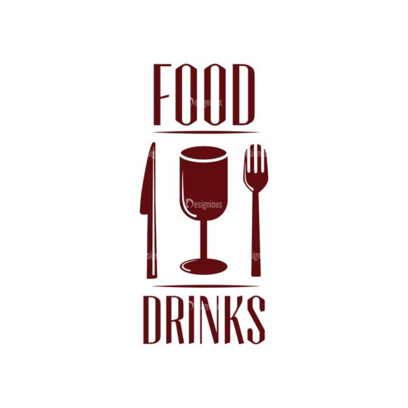 Restaurant And Cafe Vector Set 2 Vector Logo 06 Food drinks restaurant and cafe vector set 2 vector logo 06