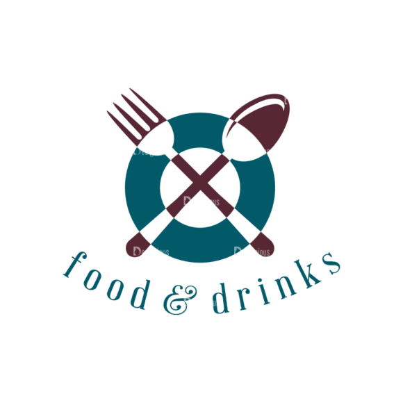 Restaurant Elements Vector Logo 05 Food drinks restaurant elements vector logo 05