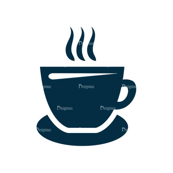Restaurant Icons Set 4 Vector Coffee 5