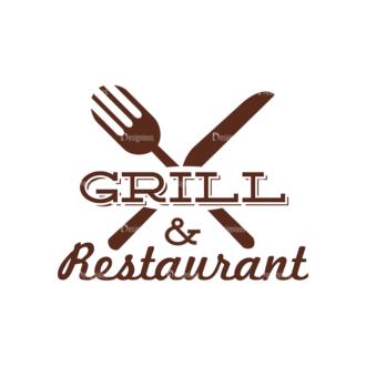 Restaurant Labels Vector Set 2 Vector Logo 01 Clip Art - SVG & PNG vector