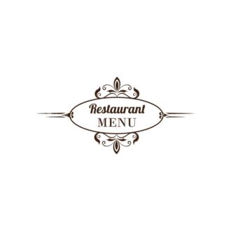 Restaurant Menu Designs Set 1 Vector Logo 03 Clip Art - SVG & PNG vector