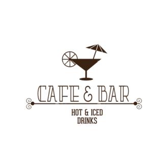 Restaurant Menu Designs Set 1 Vector Logo 06 Clip Art - SVG & PNG vector