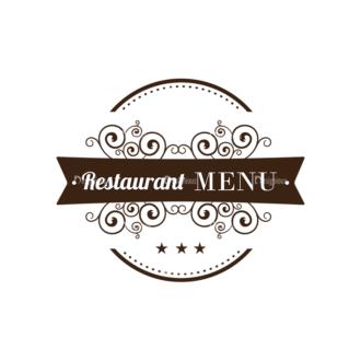 Restaurant Menu Designs Set 1 Vector Logo 09 Clip Art - SVG & PNG vector