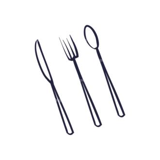 Restaurant Menu Set Vector Utensils 07 Clip Art - SVG & PNG vector