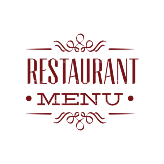 Restaurant Menu Vector Set 1 Vector Logo 02 Clip Art - SVG & PNG vector