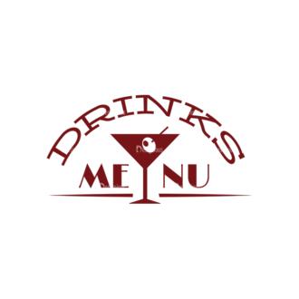 Restaurant Menu Vector Set 1 Vector Logo 04 Clip Art - SVG & PNG vector