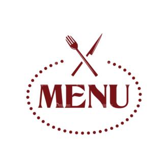 Restaurant Menu Vector Set 1 Vector Logo 05 Clip Art - SVG & PNG vector
