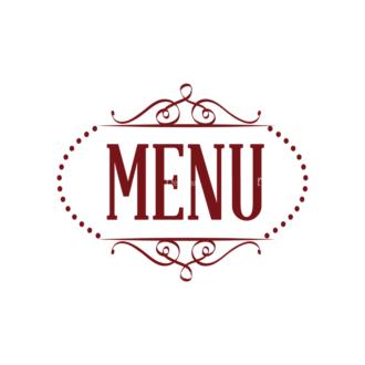 Restaurant Menu Vector Set 1 Vector Logo 06 Clip Art - SVG & PNG vector
