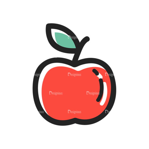 Vector Food Icons And Elements 3 Vector Apple 1
