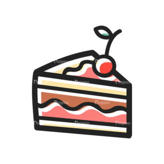 Vector Food Icons And Elements 3 Vector Cake Clip Art - SVG & PNG vector