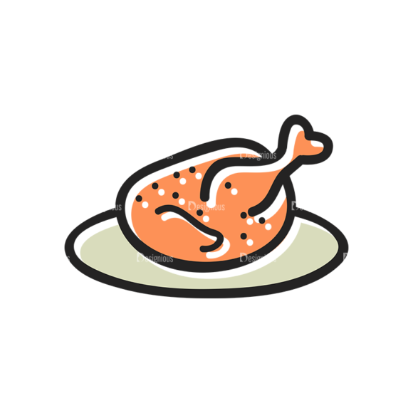 Vector Food Icons And Elements 3 Vector Chicken 1