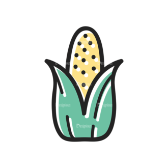 Vector Food Icons And Elements 3 Vector Corn Clip Art - SVG & PNG vector