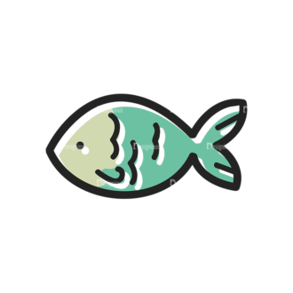 Vector Food Icons And Elements 3 Vector Fish Clip Art - SVG & PNG vector
