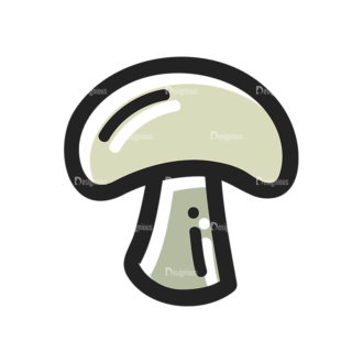 Vector Food Icons And Elements 3 Vector Mushroom Clip Art - SVG & PNG vector