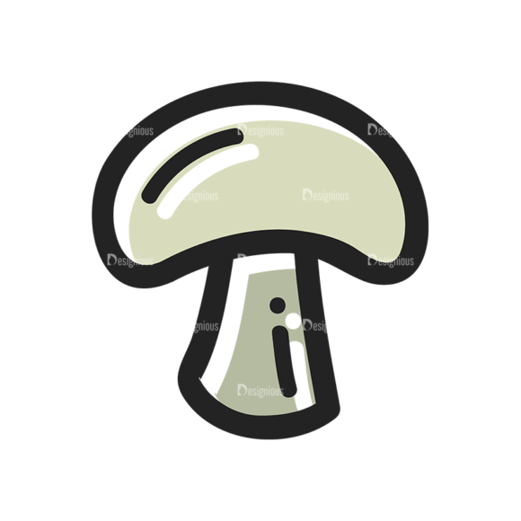 Vector Food Icons And Elements 3 Vector Mushroom 1