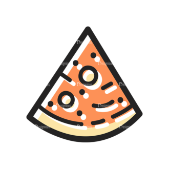 Vector Food Icons And Elements 3 Vector Pizza Clip Art - SVG & PNG vector