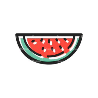 Vector Food Icons And Elements 3 Vector Watermelon Clip Art - SVG & PNG vector