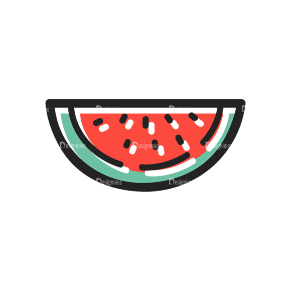 Vector Food Icons And Elements 3 Vector Watermelon 1
