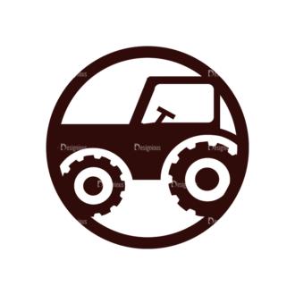 Vintage Farming Vectors Set 2 Vector Truck Clip Art - SVG & PNG vector