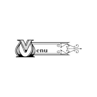 Vintage Menu Ornaments Vector Menu 04 Clip Art - SVG & PNG vector