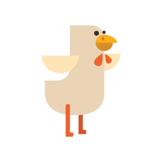 Geometric Birds Chicken Clip Art - SVG & PNG vector
