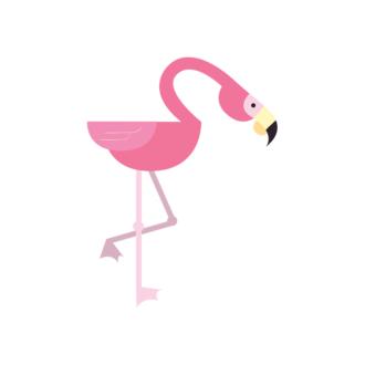Geometric Birds Flamingo Clip Art - SVG & PNG vector
